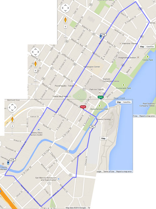 Maps and Parking – Toledo Race for the Cure | Susan G Komen ...